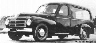 1950 Ringborg Volvo PV445 Katterug Hearse