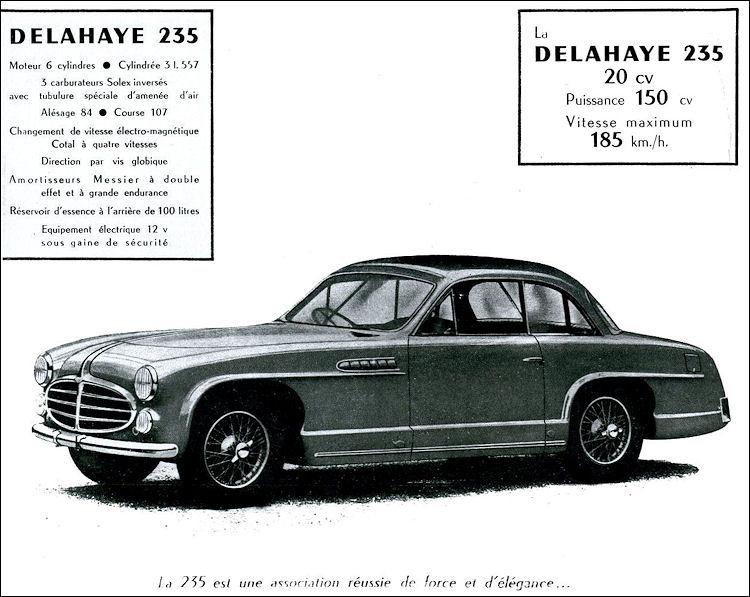 1952 Delahaye 235 coupe chapron