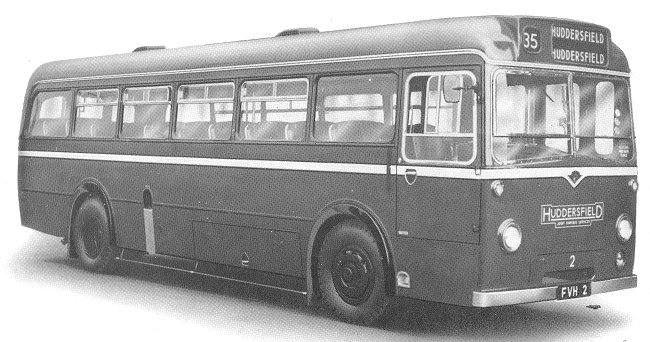 1952 Guy Arab Underfloor engined single deck Huddersfield 43 seater bus 4
