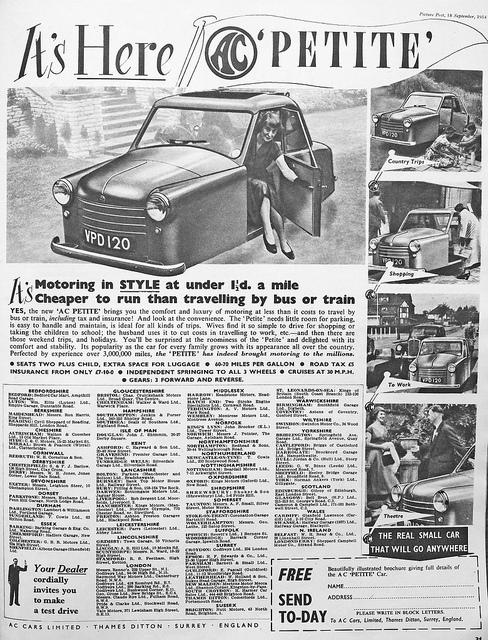 1953 A C Petite ad a