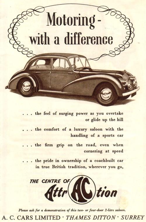 1953 ac 1953 2 litre saloon 4d
