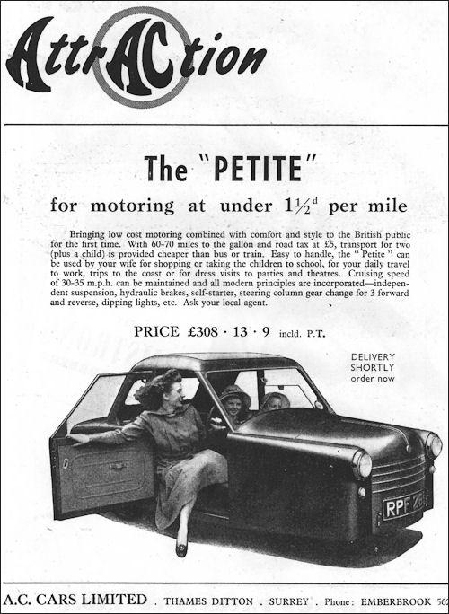 1953 AC Petite ad