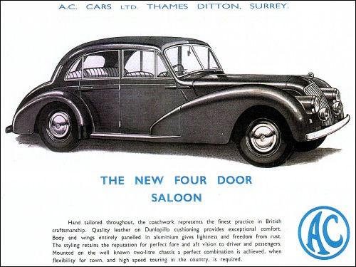 1954 AC 2litre saloon