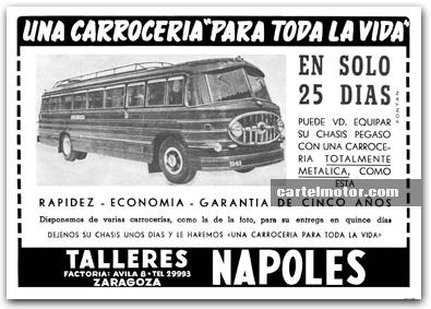 1954 TALLERES NAPOLES BUS PEGASO (NAZAR)