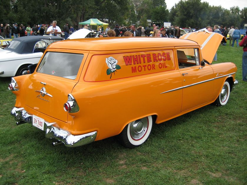 1956 Canadian Pontiac Pathfinder Sedan Delivery. 1383 built