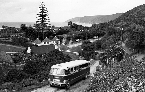 1956 SAR Brill Bus at Wilderness, Cape Province