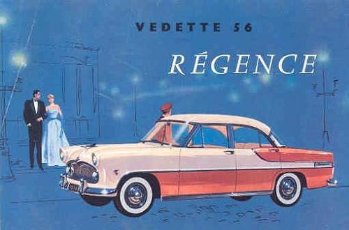 1956 Simca Vedette Regence a