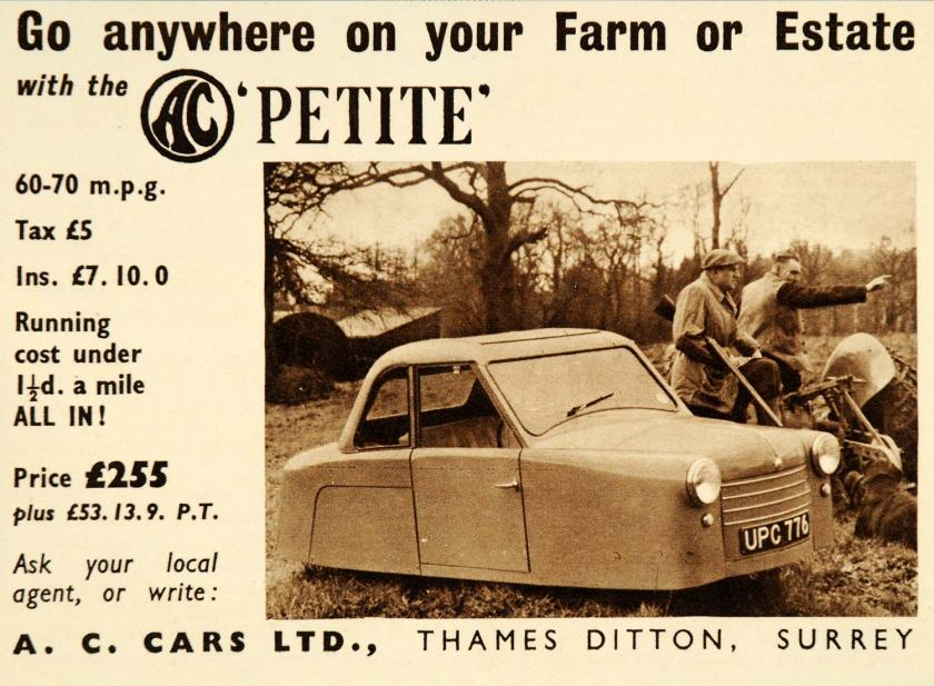 1957 AC Ace Bristol ad
