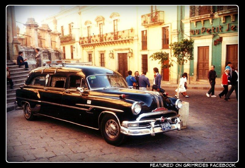 1957 Pontiac hearse in Guanajuato Mexico