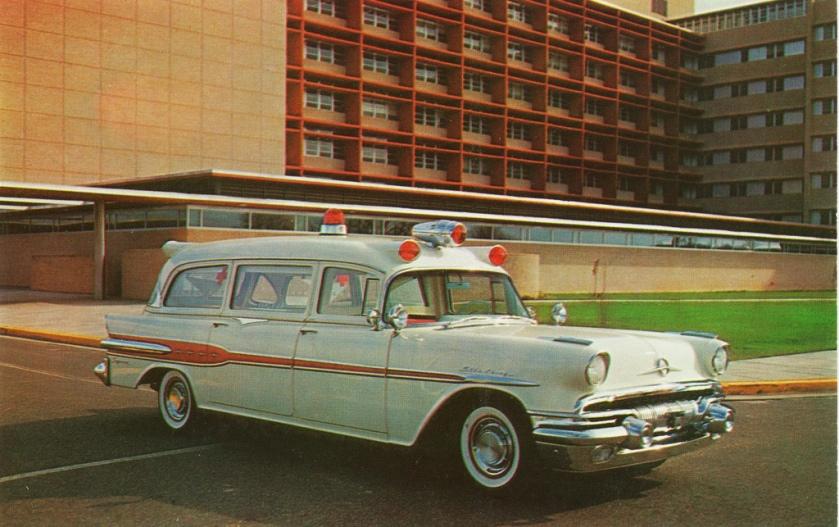 1957 Pontiac Superior Ambulance