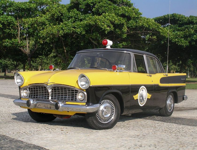 1960 A Brazilian made Simca Chambord, used in the TV series Vigilante Rodoviário (1961-1962)