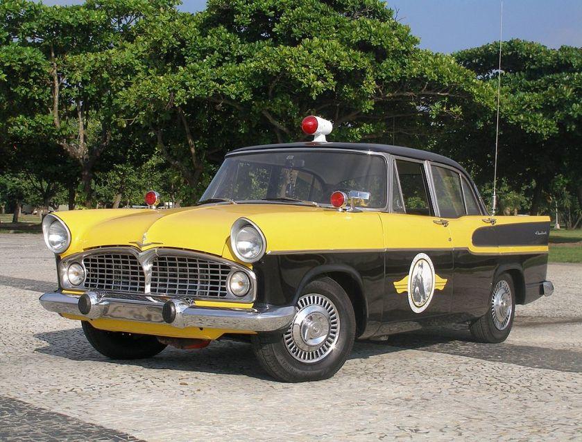 1960 A Brazilian made Simca Chambord, used in the TV series Vigilante Rodoviário (1961-1962)