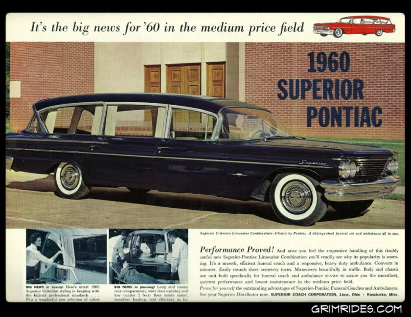 1960 Pontiac Superior Criterion Limo Style Combo Hearse - Ambulance