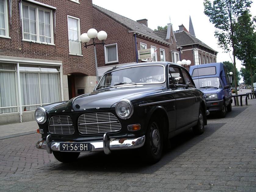 1960 Volvo 122 tweedeurs Amazone groen b