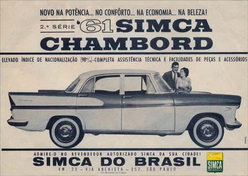 1961 Simca Chambord 2e