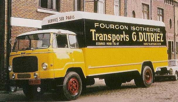 1961 UNIC Esterel de 19 tonnes roulant pour Calberson