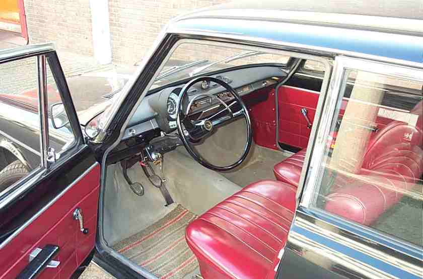 1964 Simca 1500 saloon, black, interior in red fake leather First registered 1964 Interiour