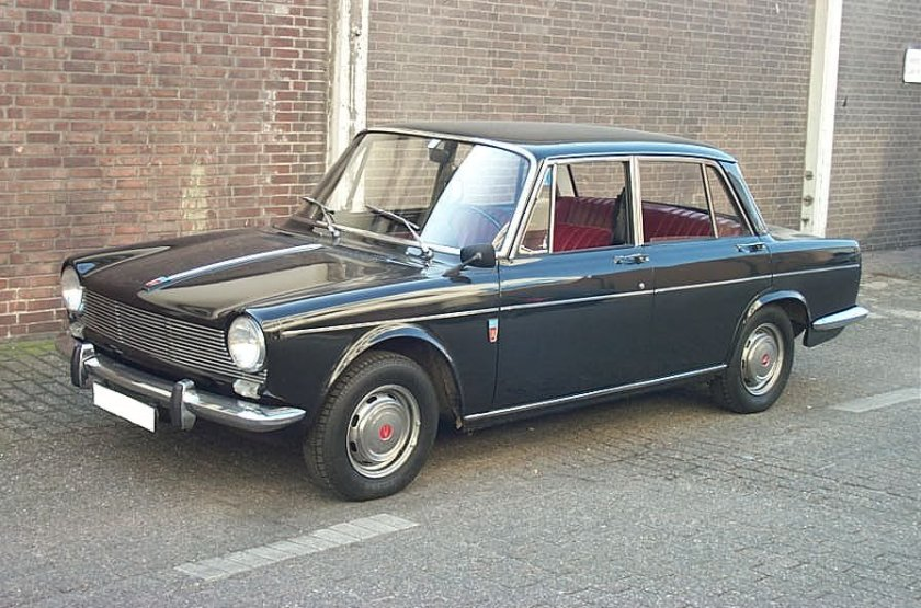 1964 Simca 1500 saloon, black, interior in red fake leather First registered 1964