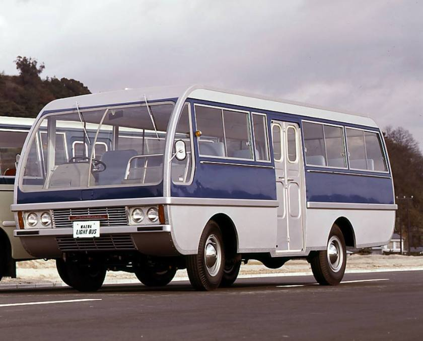 1965. A Mazda Light Bus Type-A, it was capable of carrying 25 people