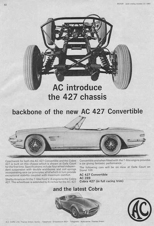 1965 AC  1965 427convertible oct