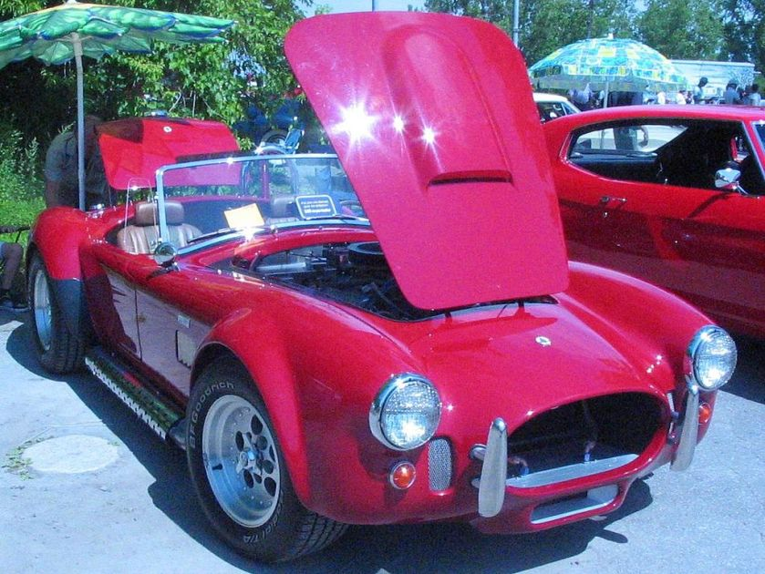 1966 Shelby AC Cobra photographed in Laval, Quebec, Canada at the Auto classique Laval.