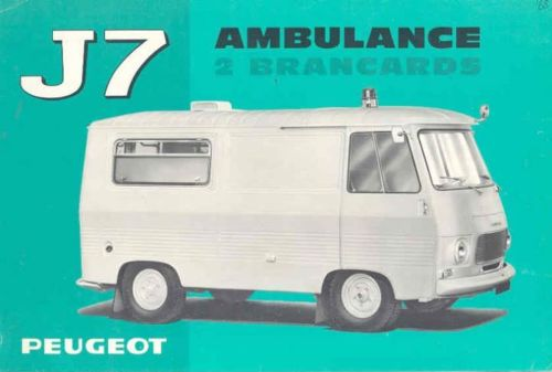 1967 Peugeot J7 Ambulance Sales Brochure