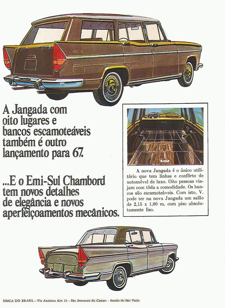 1967 Simca Esplanada brochure