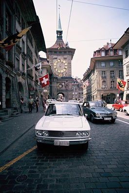 1968 A Mazda 1500 sedan (Luce circa 1968) on the streets of Bern, Switzerland.