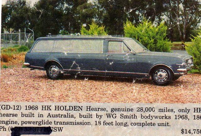 1968 Holden Hearse 6013