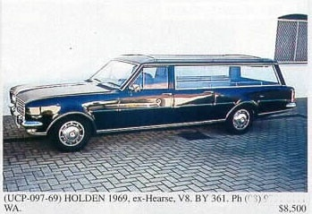 1969 Holden HG Hearse