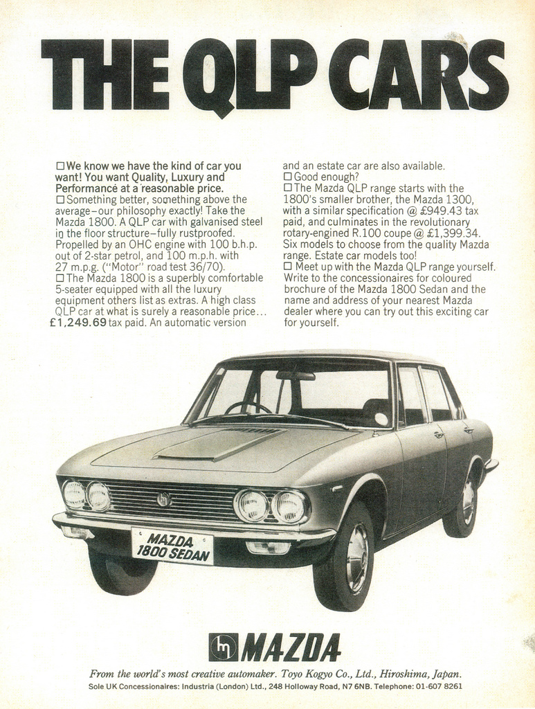 1970 Mazda 1800 sedan UK