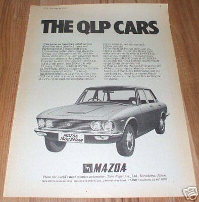 1971 Mazda 1800 boekje