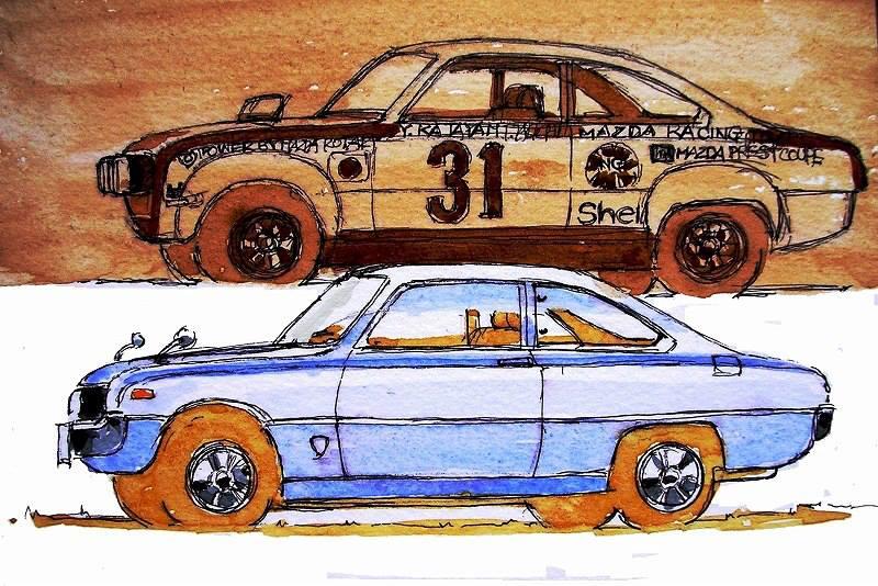 1972 Mazda Car Postcard