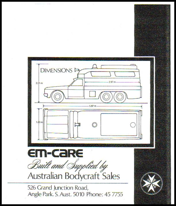 1973-78 HX Holden Em-Care Fleet 121 6 wheels ad