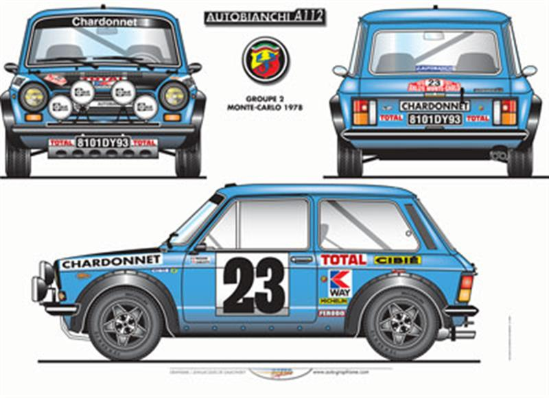 1975 AUTOBIANCHI ABARTH A112 GROUP 2 MONTECARLO 1975