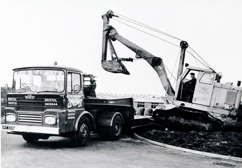 1976 Guy Big J low-loader, Wrings Transport Bristol