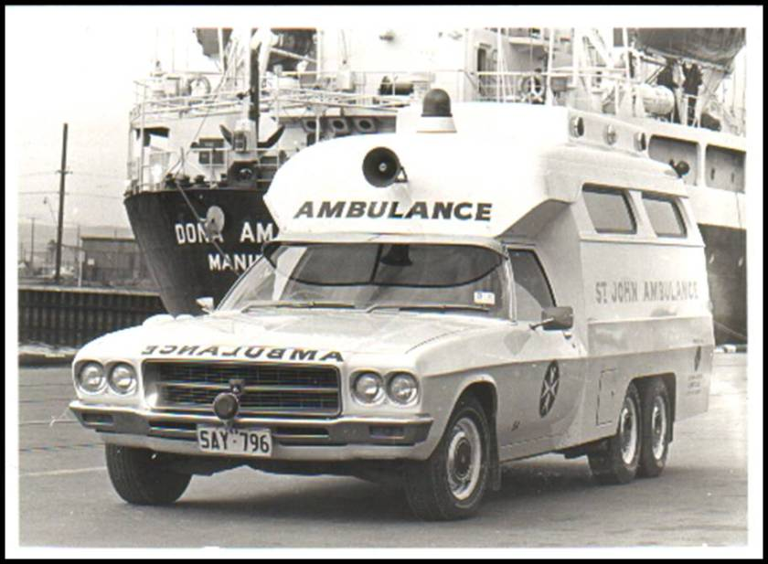 1976 HX Holden six wheels amb