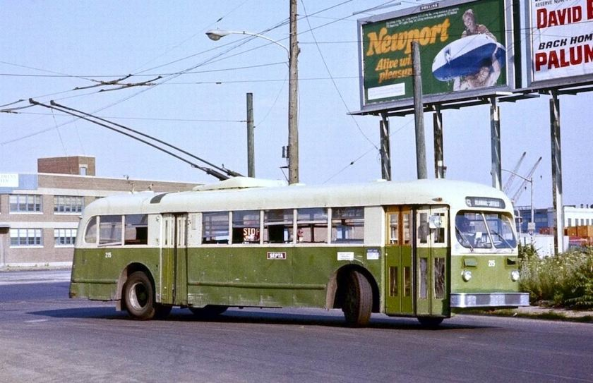 1978 ACF-Brill trolleybus 215 on route 79