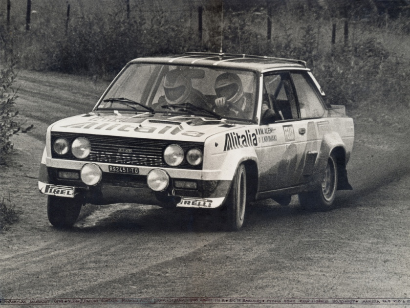 1978 Fiat 131 Abarth driven by Markku Alén at the 1978 1000 Lakes Rally