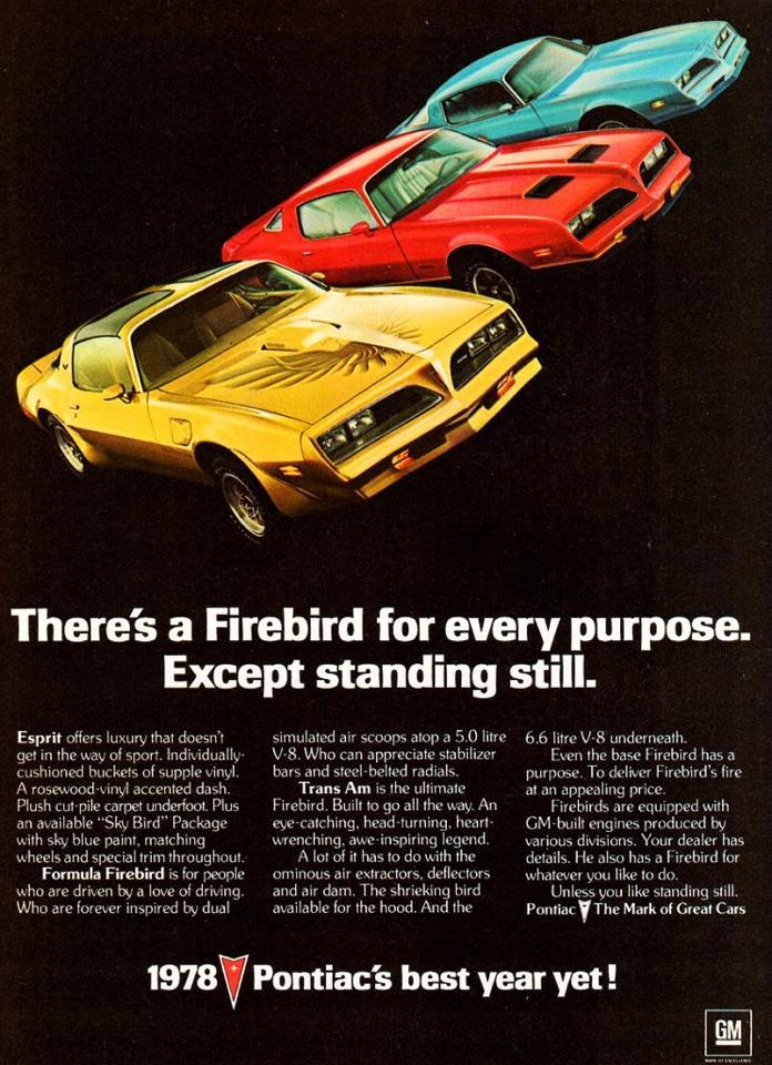 1978 Pontiac Firebird Ad