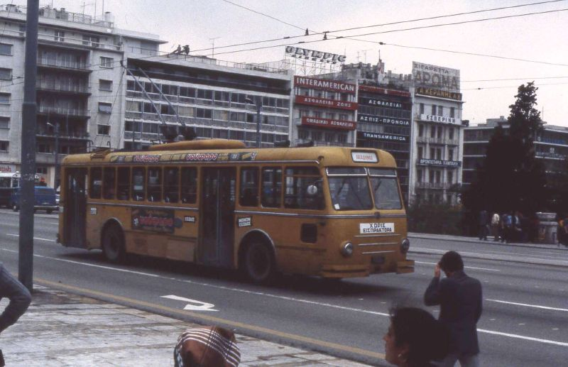 1981 Lancia trolleybus in Athens