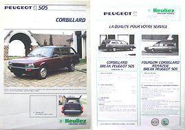 1984-peugeot-505-heuliez-corbillard-hearse-french-brochure