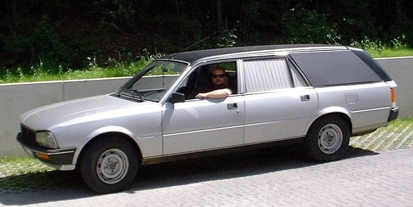 1990 Peugeot 505 funeral car