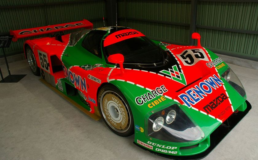 1991 Mazda 787B, winner of the 1991 24 Hours of Le Mans race