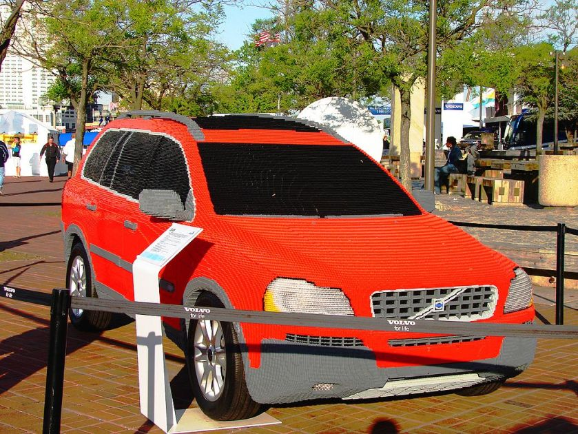 2006 Volvo XC90 constructed from LEGO bricks on display at Volvo Ocean Race – 2006