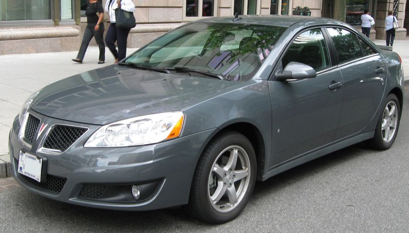 2009 G6 was the last Pontiac manufactured by General Motors (2009.5 model shown)