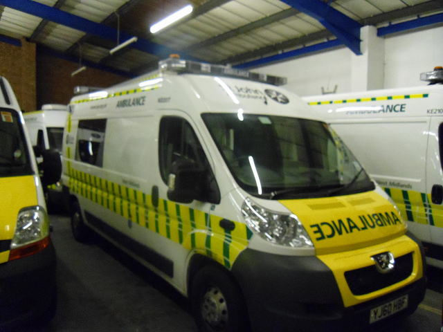 2013 St John Ambulance West Midlands Peugeot Boxer