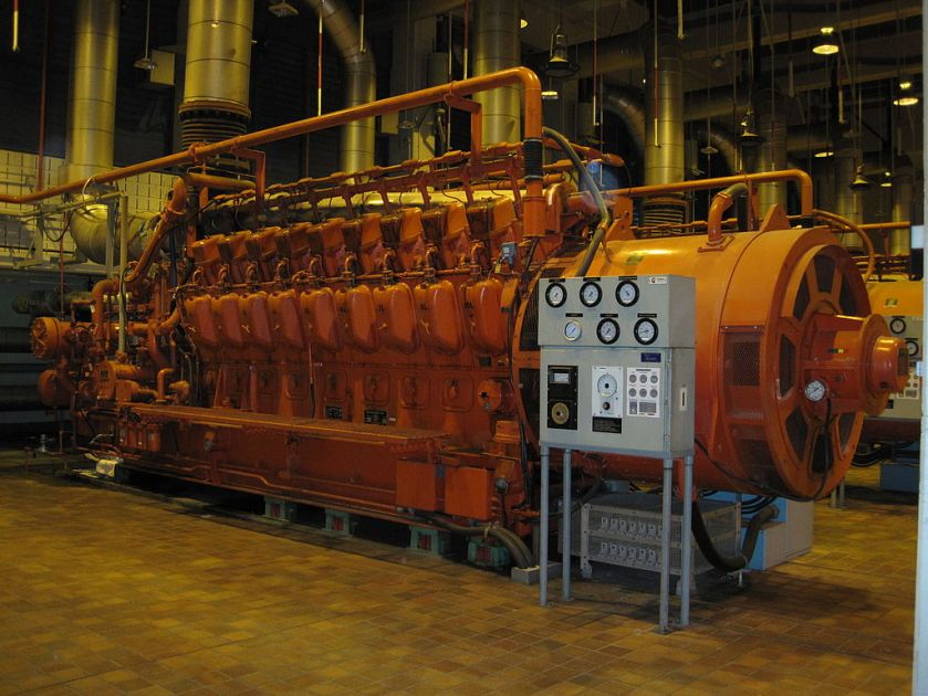 ALCO 18-251 engine used as a backup generator at a wastewater plant in Montreal