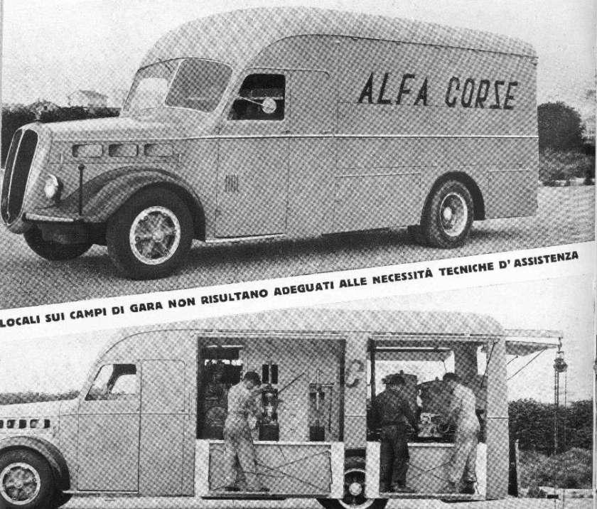Alfa Romeo 500 race transporter 13925
