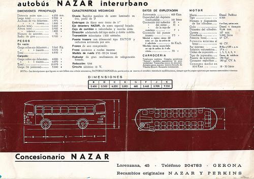 Autobus NAZAR Interurbano Gerona